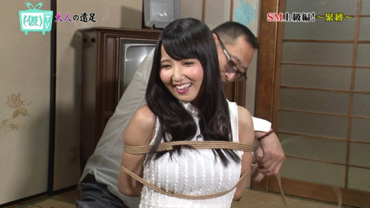 【※画像あり※】TOKYO MXのSM特集で緊縛師が巨乳女性を縛って乳がとんでもない事態にwwさすがローカル局wwwwwwwww・7枚目