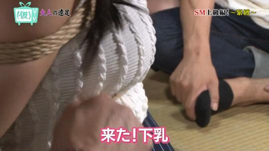 【※画像あり※】TOKYO MXのSM特集で緊縛師が巨乳女性を縛って乳がとんでもない事態にwwさすがローカル局wwwwwwwww・8枚目