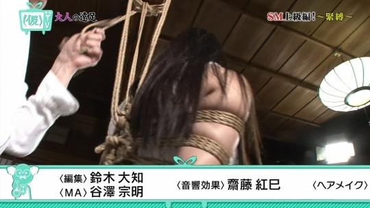 【※画像あり※】TOKYO MXのSM特集で緊縛師が巨乳女性を縛って乳がとんでもない事態にwwさすがローカル局wwwwwwwww・12枚目