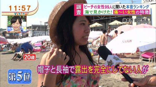 【※画像あり※】フジの筋肉アナ榎並がビーチインタビューするとギャルは必ずこの表情。さぁキャプ見てイライラしようず。・4枚目