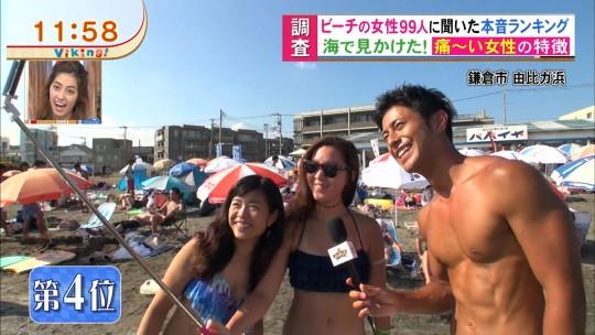 【※画像あり※】フジの筋肉アナ榎並がビーチインタビューするとギャルは必ずこの表情。さぁキャプ見てイライラしようず。・11枚目