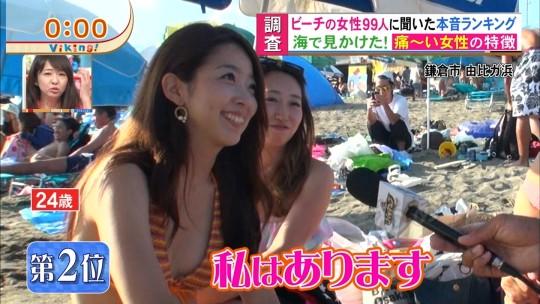 【※画像あり※】フジの筋肉アナ榎並がビーチインタビューするとギャルは必ずこの表情。さぁキャプ見てイライラしようず。・22枚目