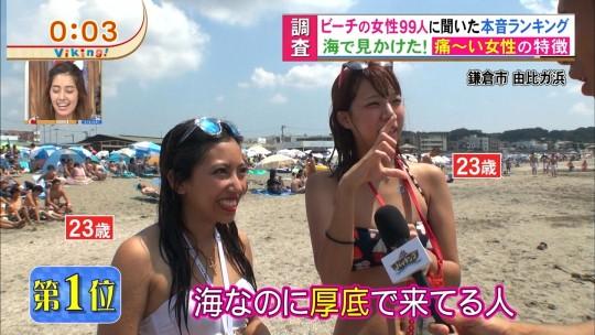 【※画像あり※】フジの筋肉アナ榎並がビーチインタビューするとギャルは必ずこの表情。さぁキャプ見てイライラしようず。・29枚目