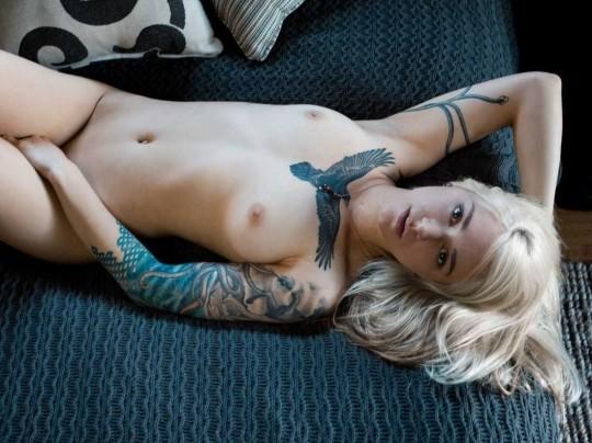 【-後悔先に立たず-】全身タトゥーの白人女性、もったいな杉(※画像30枚※)・13枚目
