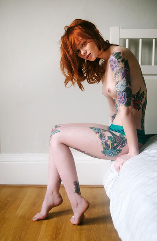 【-後悔先に立たず-】全身タトゥーの白人女性、もったいな杉(※画像30枚※)・18枚目