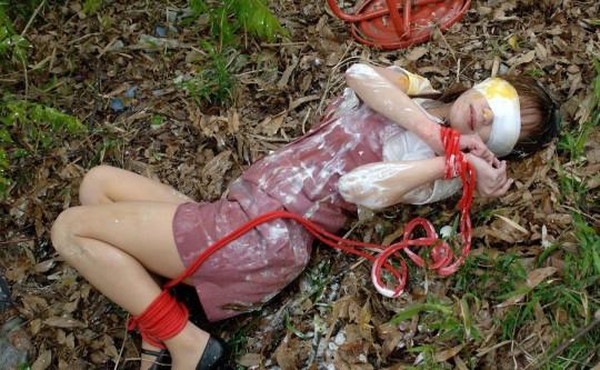【※閲覧注意】『レイプ → 放置』のコンボ喰らった人生終了女性の事後画像を無慈悲に貼ってく鬼畜スレ(※画像29枚※)・3枚目