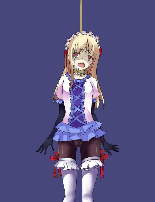 【グロ注意】恐怖、首吊り女の子画像スレ・・・(画像あり)・18枚目