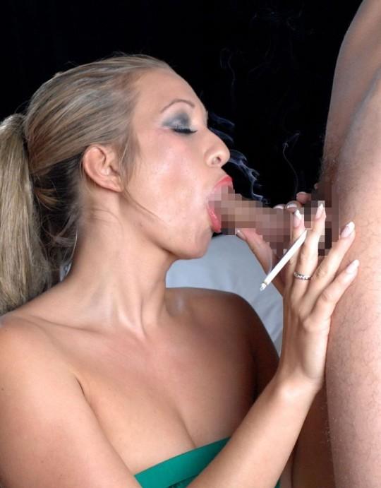 【※画像あり】タバコ吸いながらフェラする女の画像が想像以上の嫌悪感で草wwwwwwwwwwwwwwwww・10枚目