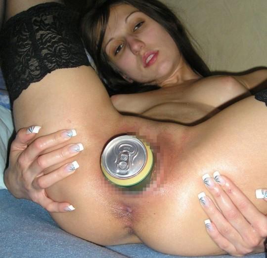 【マジキチ】500mlの缶をマンコに突っ込んだ女の凶表情wwwwwwwwwwwwwwwww(画像あり)・15枚目