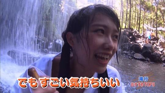 【画像あり】露骨なエロ番組で話題の「ランク王国」の滝行の回がやっぱり当たり回な件について。・41枚目