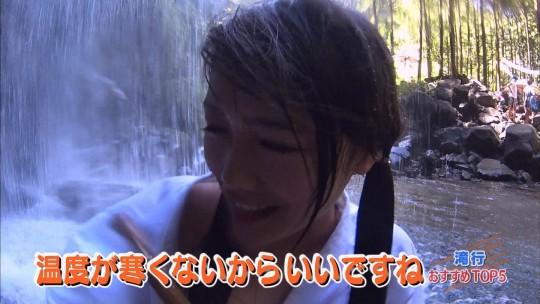 【画像あり】露骨なエロ番組で話題の「ランク王国」の滝行の回がやっぱり当たり回な件について。・42枚目