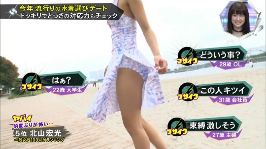 【画像あり】キスマイBUSAIKU!?の水着選びデートコーナーで変態ビキニ見せつけられた玉森の反応wwwwwwwwwww・24枚目