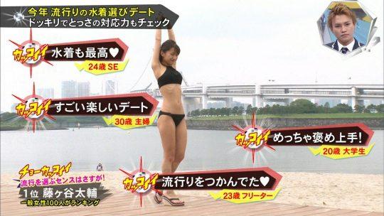 【画像あり】キスマイBUSAIKU!?の水着選びデートコーナーで変態ビキニ見せつけられた玉森の反応wwwwwwwwwww・46枚目