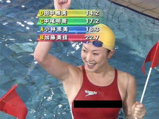 (水泳あるある)水の抵抗を限界まで無くしたミズ着を開発した結果。女子選手のビーチクはこうなるwwwwwwwwwwwwwwwwwwwwww(写真あり)