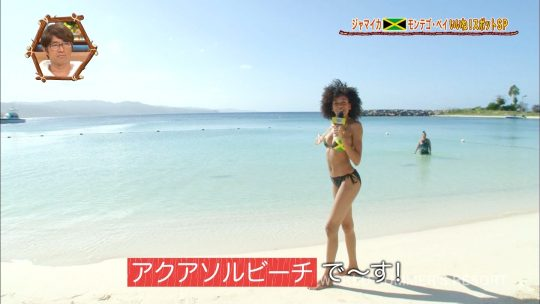 【画像あり】世界さまぁ~リゾート、今週のジャマイカ美女いきなりのブリッジがモロハミ乳してて放送事故寸前wwwwwwwwww・3枚目