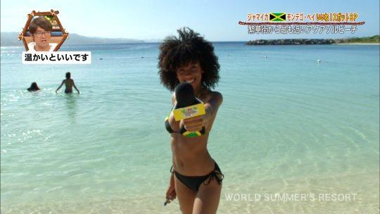 【画像あり】世界さまぁ~リゾート、今週のジャマイカ美女いきなりのブリッジがモロハミ乳してて放送事故寸前wwwwwwwwww・5枚目