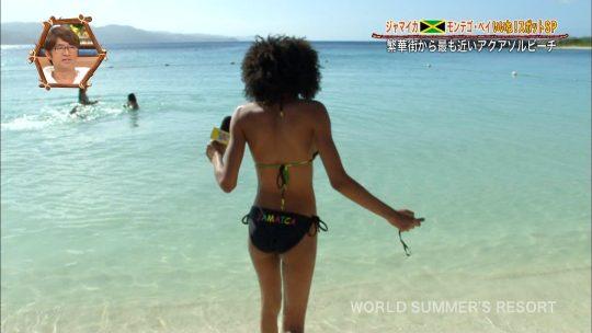 【画像あり】世界さまぁ~リゾート、今週のジャマイカ美女いきなりのブリッジがモロハミ乳してて放送事故寸前wwwwwwwwww・6枚目