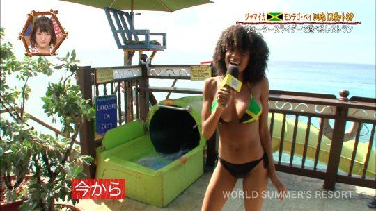 【画像あり】世界さまぁ~リゾート、今週のジャマイカ美女いきなりのブリッジがモロハミ乳してて放送事故寸前wwwwwwwwww・18枚目