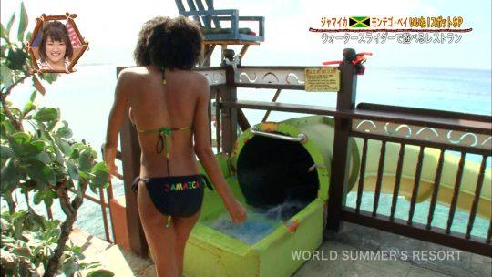 【画像あり】世界さまぁ~リゾート、今週のジャマイカ美女いきなりのブリッジがモロハミ乳してて放送事故寸前wwwwwwwwww・19枚目