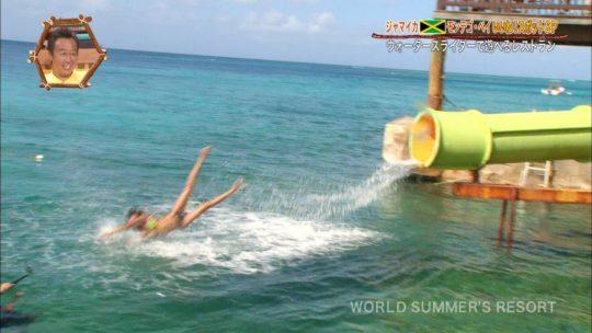 【画像あり】世界さまぁ~リゾート、今週のジャマイカ美女いきなりのブリッジがモロハミ乳してて放送事故寸前wwwwwwwwww・25枚目
