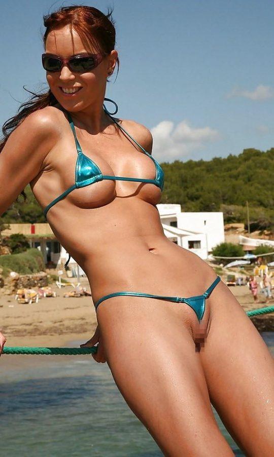 【ほぼ露出狂】外国人まんさんの流行水着が・・・日本だと猥褻物陳列罪にあたる模様wwwwwwwwwww(画像あり)・20枚目