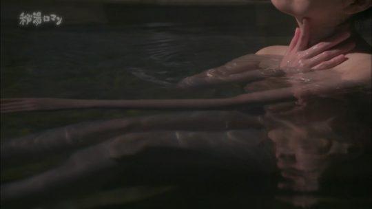 """【ついに陥落】エロ成分少な目なお堅い温泉番組""""秘湯ロマン""""、ついにマンチラ放送事故をやらかす・・・・・(キャプ画像50枚)・11枚目"""