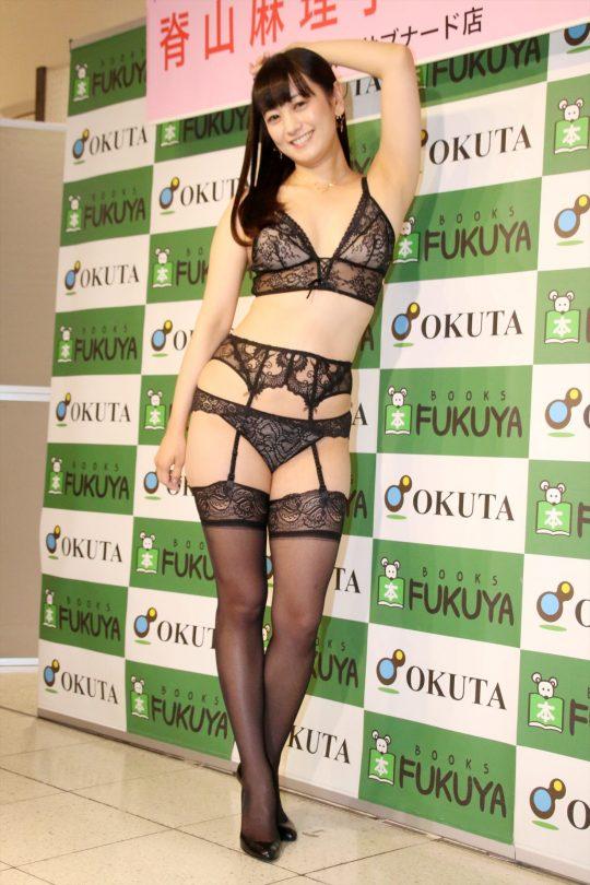 【ガイジ】元女子アナの脊山麻理子さん、とんでもない下着姿でイベントに登場するwwwwwwwwwwww(画像多数)・3枚目