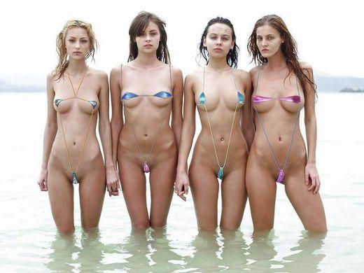 (ほぼぬーど)非ヌーディストビーチで普通に見かける外人まんさんのミズ着が冒険し過ぎでワロタwwwwwwwwwwwwwwwwwwww(写真あり)