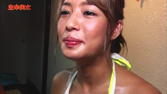 """【有能】CSフジの超有能企画""""激辛美女""""、美女が汗だくで麻婆豆腐をかっ込むとかいう神企画の様子wwwwwwwwwwwwwwww(画像多数)・30枚目"""