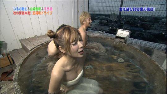 【必死のアピールタイム】温泉ロケになった瞬間ここぞとバスタオルを下げるグラビアアイドル、必死過ぎてワロタwwwwwwww(画像30枚)・7枚目