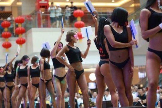 【圧倒的美尻】中国遼寧省のショッピングモールで開催された美尻コンテスト、302番の尻が圧倒的過ぎてワロタwwwwwwwwww(画像あり)・9枚目