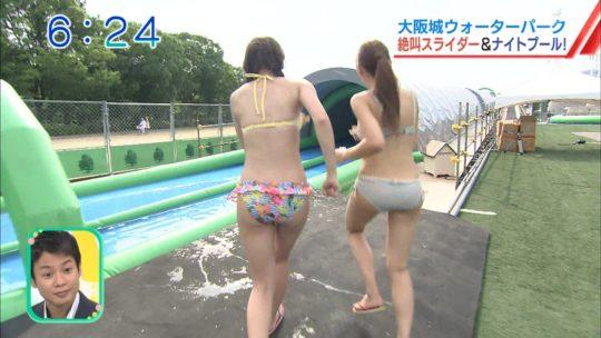 【喰い込み過ぎ】大阪ABCテレビ、早朝6時台からウォータースライダー特集でマンスジまる見え放送事故wwwwwwwwwwww(画像多数)・7枚目