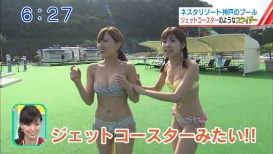 【喰い込み過ぎ】大阪ABCテレビ、早朝6時台からウォータースライダー特集でマンスジまる見え放送事故wwwwwwwwwwww(画像多数)・29枚目