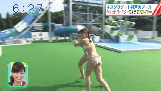 【喰い込み過ぎ】大阪ABCテレビ、早朝6時台からウォータースライダー特集でマンスジまる見え放送事故wwwwwwwwwwww(画像多数)・32枚目