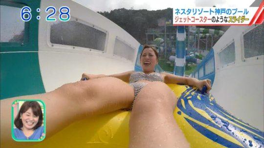 【喰い込み過ぎ】大阪ABCテレビ、早朝6時台からウォータースライダー特集でマンスジまる見え放送事故wwwwwwwwwwww(画像多数)・40枚目