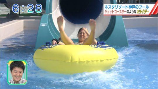 【喰い込み過ぎ】大阪ABCテレビ、早朝6時台からウォータースライダー特集でマンスジまる見え放送事故wwwwwwwwwwww(画像多数)・41枚目