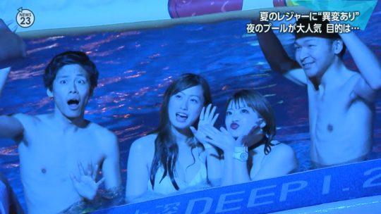 【ハッシュタグ検索推奨】最近インスタ女子に人気とTVで紹介されまくりな東京プリンスのナイトプール、こりゃ確かにエロ自撮りが捗るなwwwwwwwwwww(画像あり)・28枚目