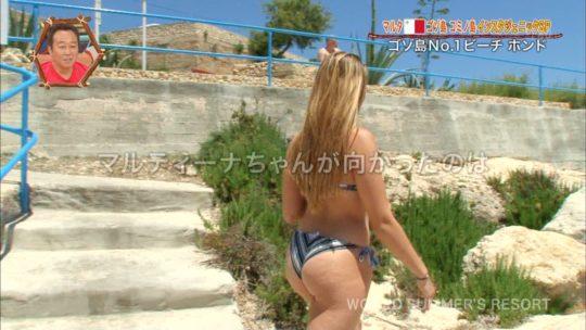 【巨尻美女】世界さまぁ~リゾートinマルタ、カメラマンが完全にこの美女の巨尻ロックオンしててワロタwwwwwwwwwwww(画像、GIFあり)・1枚目