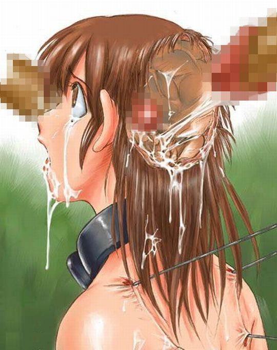 【リョナエロ画像】二次初心者ワイ「脳姦か、洗脳的なプレイかな?」トッモ「物理やで!!」←コレwwwwwwwww(画像30枚)・29枚目