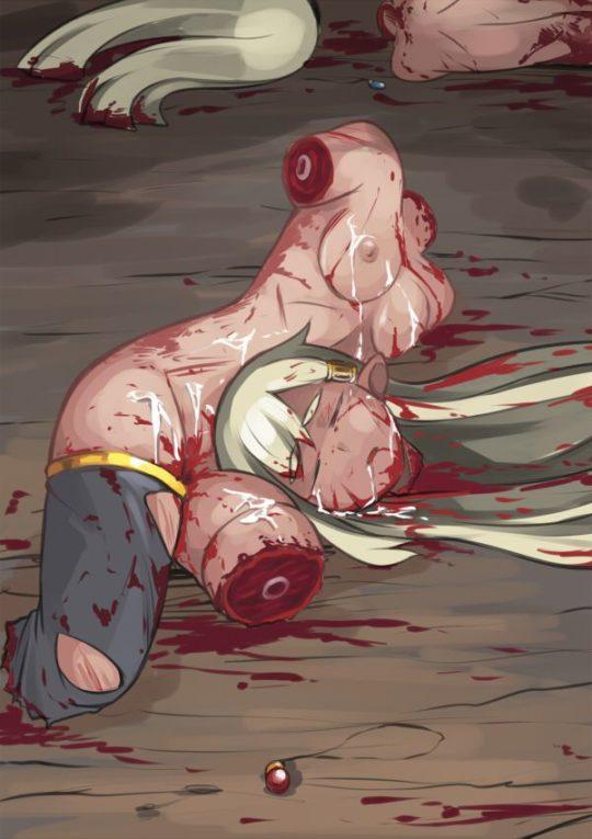 【リョナエロ画像】断頭台や斬首刑で首チョンバされてる二次画像、リョナ好きワイもこれには嘔吐・・・orz(画像30枚)・28枚目