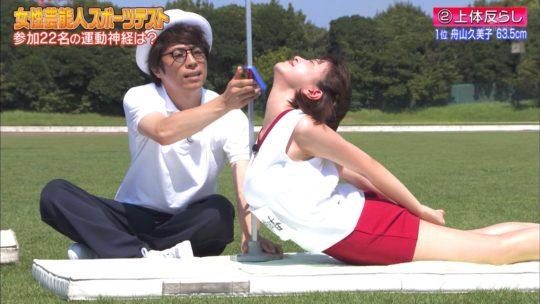 【おっぱいエロ画像】ロンハースポーツテスト、Fカップグラドル都丸紗也華の片乳ポロリ上体反らしが狙い過ぎで草wwwwwwww(画像あり)・17枚目