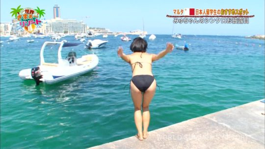 【速報・水着エロ画像】世界さまぁ~リゾート 、現地在住の素人がシンクロ披露で水着を裏表逆に付ける珍プレーwwwwwwwww(画像あり)・28枚目