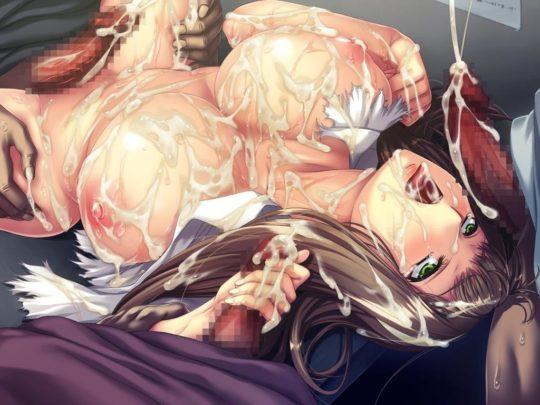 【ぶっかけエロ画像】モブ顔のくせに射精の度とんでもない量のザーメンをぶっかける二次主人公に草不可避wwwwwwwwww(画像あり)・17枚目