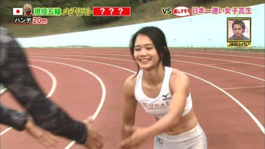 【アスリートエロ画像】炎の体育会TVの美し過ぎる日本一速い女子高生、フィニッシュ後のポーズがあざと過ぎワロタwwwwwwwwww(画像あり)・20枚目