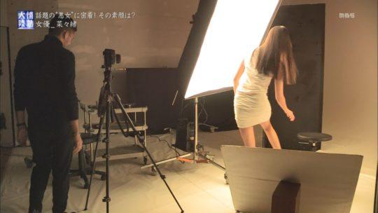 【尻エロ画像】情熱大陸で女優菜々緒の糞エロ過ぎるハミ尻、GIFの破壊力ワロタwwwwwwwww(画像、GIFあり)・24枚目