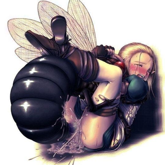 """【蟲姦エロ画像】""""巨大蟲姦"""" とかいうグロを超えて閲覧注意なこのジャンル。。。(画像30枚)・12枚目"""