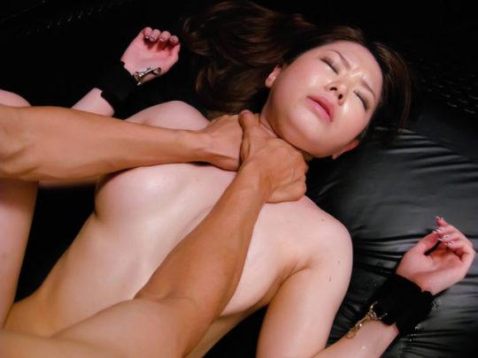 """【首絞めエロ画像】初心者が絶対真似してはいけないプレイ""""首絞めセックス""""、コレ見てホントやめとけ。。。(画像25枚)・14枚目"""