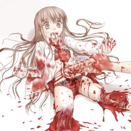 """【二次リョナ画像】リョナ好きワイ、初心者のお前らの為に基本的な""""切断、串刺し系""""のリョナ画像貼ってく。(画像あり)・24枚目"""