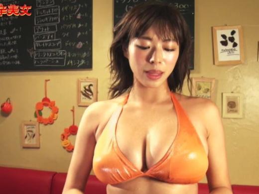 (有能)激辛モデル、Hカップ女子大学生が汗だくお乳で挑発してくるTV企画が狙い過ぎで草wwwwwwwwwwwwwwww(写真あり)