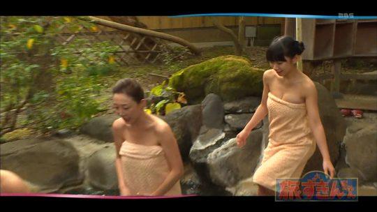 【ハミ乳温泉画像】口リ顔Fカップ長澤茉里奈さんの入浴シーン、おっぱいハミ出し過ぎワロタwwwwwwwww(画像あり)・8枚目
